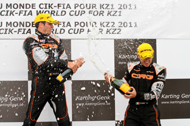 WORLD TITLE IN KZ1 FOR CRG-MAXTER THANKS TO JONATHAN THONON. 'THE CANNIBAL' AT HIS FOURTH WORLD TITLE IN FIVE YEARS