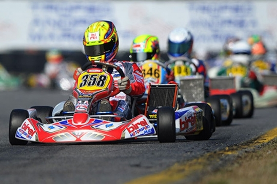 Aubry and Birel in the foreground at Margutti