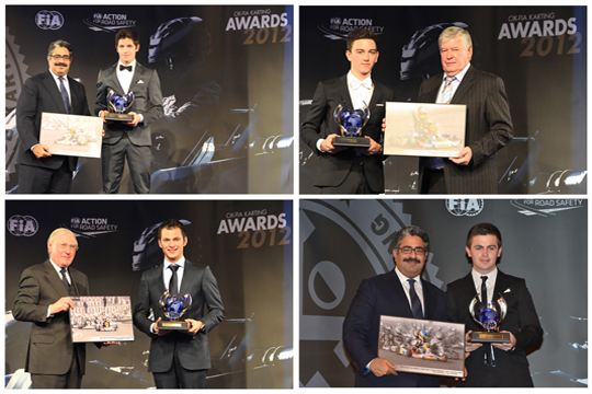 Crg Drivers Hold The Stage At The Cik-Fia Prize-Giving Ceremony For The 2012 International Kart Championships