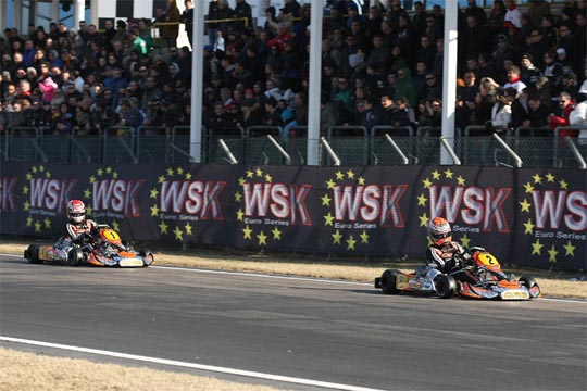 ANOTHER VICTORY FOR CRG WITH MAX VERSTAPPEN IN KZ1 IN THE OPENING RACE IN LA CONCA FOR THE WSK EURO SERIES
