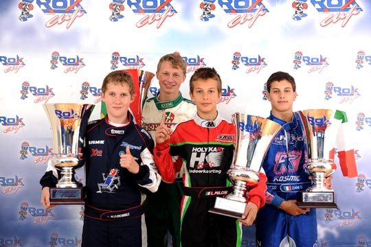 Bezuidenhout, Pulcini, Parkins, Zani. Champions of the Rok Cup International 10 Years of Activity.