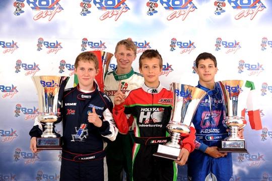 Bezuidenhout, Pulcini, Parkins, Zani. Champions of the Rok Cup International 10 Years of Activity.