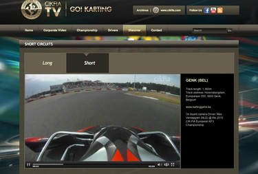 Discovering the circuits with on-board cameras on cikfia.tv