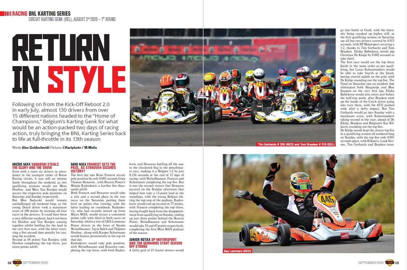 Racing - BNL karting series