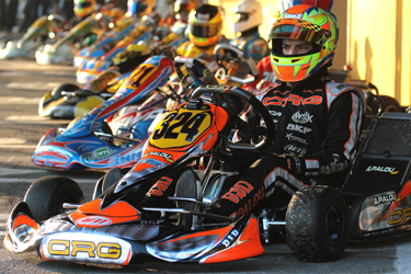 CRG IN THE KF3 EUROPEAN CHAMPIONSHIP WITH ALEX PALOU. THE FIRST ROUND IN FRANCE IN VARENNES SUR ALLIER