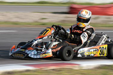 CRG at the qualifying session of the CIK-FIA European Championship for KF2 and KF3 in Great Britain and France