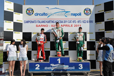 Successful season opening in Sarno for the Italian CSAI Karting Championship