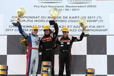 CRG WINS THE KZ2 EUROPEAN CHAMPIONSHIP IN GERMANY WITH FEDERER. TORSELLINI GRABS THE THIRD STEP OF THE PODIUM