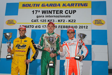 THE BELGIAN DREEZEN (TONY KART) WINS THE 17th WINTER CUP IN KZ2. THE DUTCH VERSTAPPEN WINS IN KF2  WHILE IN KF3 THE VICTORY GOES TO THE ENGLISH RUSSEL ON INTREPID