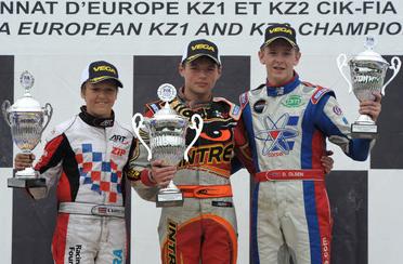 Euro KF2: Verstappen takes command