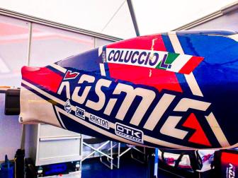 Luigi Coluccio with Kosmic Racing Department.