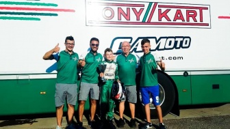 Gamoto Kart on the podium at the Trofeo D'Estate.