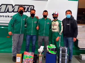 Podium for Gamoto Kart at the Margutti Trophy.