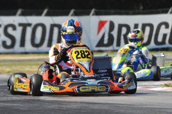 Podium for CRG with Pedro Hiltbrand at the WSK in La Conca