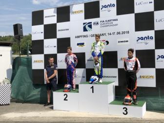 Kart Prix Germany - Aron and Janker celebrate in Germany.