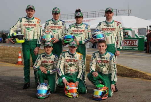 The big 2013 championship at the starting grid with the WSK Euro