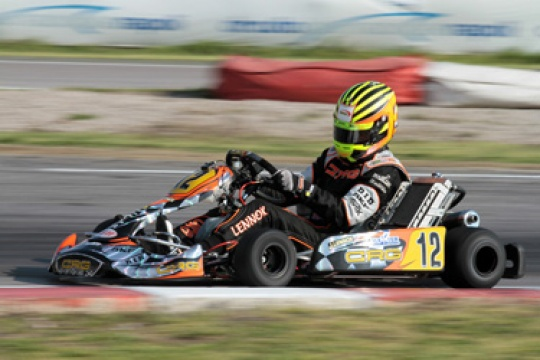 CRG official team in Portugal on the Algarve Circuit of Portimao for the second event of the WSK Euro Series