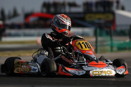 CRG IN SARNO FOR THE SECOND ROUND OF THE WSK MASTER SERIES. VERSTAPPEN IS THE UNDISPUTED LEADER IN KZ2