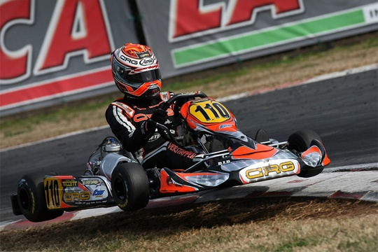 CRG AT ITS BEST ON THE INTERNATIONAL CIRCUIT LA CONCA FOR THE FIRST EVENT OF THE WSK EURO SERIES