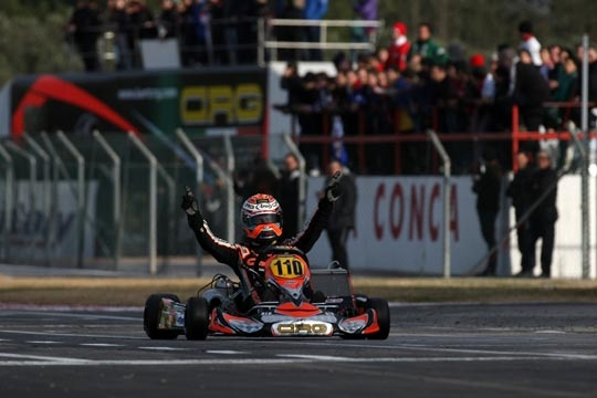 Crg Ok at La Conca with Verstappen who dominates the Wsk Master Series in Kz2