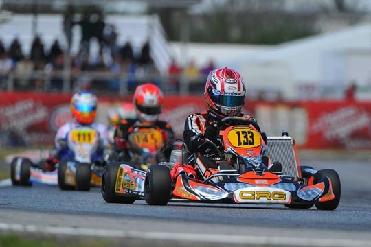 CRG CONQUERS THE PODIUM THANKS TO JORRIT PEX IN KZ2 IN SARNO IN THE WSK MASTER SERIES. VERSTAPPEN KEEPS THE LEADERSHIP