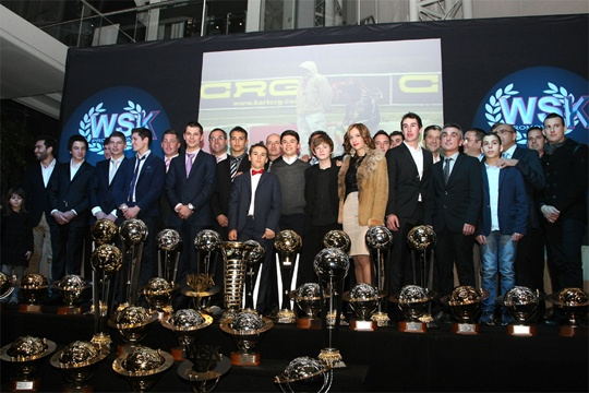 CRG AND TININI GROUP SWEEP THE BOARD AND GOT MOST OF THE TROPHIES AT THE GRAN GALA' OF THE WSK PROMOTION FOR THE 2012 SEASON