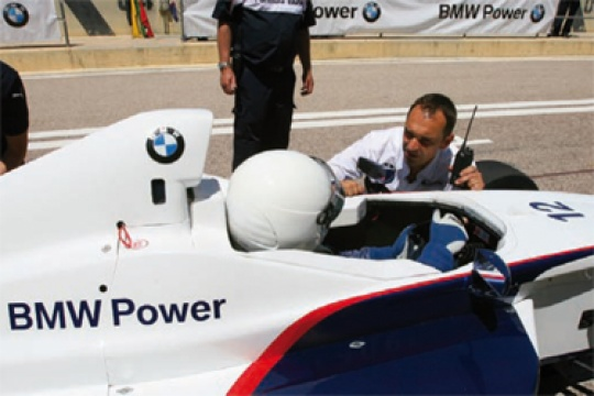 Theissen and Vettel visit Formula BMW Talent Cup scholarship course