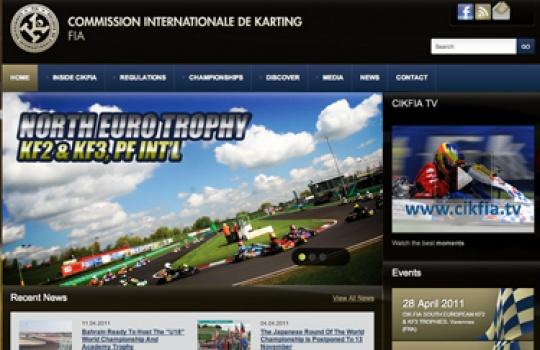Flashy new website for the CIK