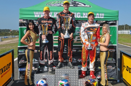 LEHANE, SPENCER AND GREENBURY CROWNED STARS OF KARTING CHAMPIONS
