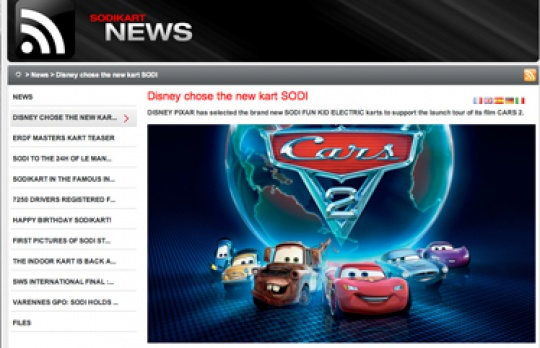 Disney chose the new kart SODI