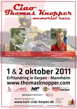 In another 4 weeks it is time for the 2nd edition of the Ciao Thomas Knopper Memorial Race.