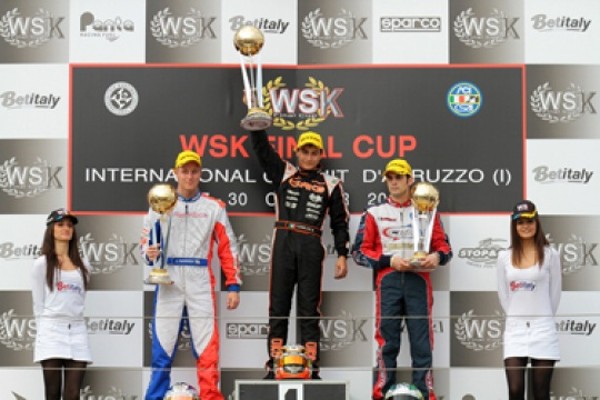CRG-MAXTER WINS THE WSK FINAL CUP THANKS TO MIRKO TORSELLINI IN KZ2 ON THE INTERNATIONAL CIRCUIT OF ABRUZZO IN ORTONA (ITALY)