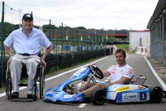 Sébastien Loeb at the ERDF Masters Kart
