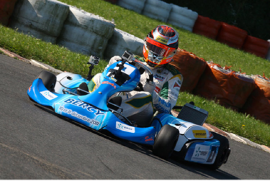 Jules Bianchi at the steering wheel of the Sodi STX