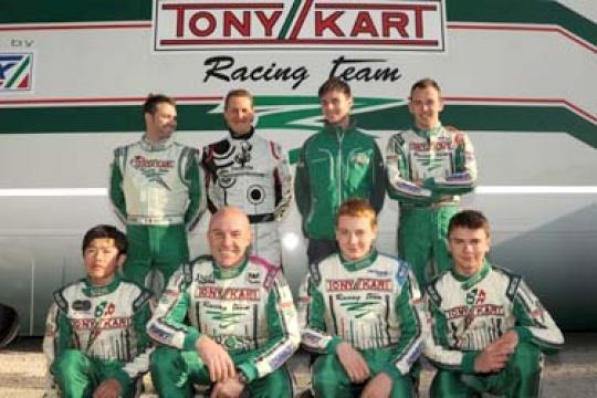 SCHUMACHER GODFATHER OF TONY KART RACING TEAM DRIVERS 2012