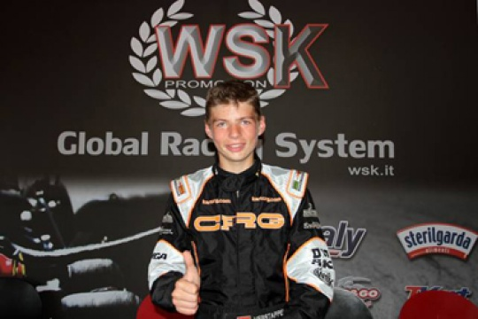 Crg conquers the KF3 WSK Euro Series title with Verstappen