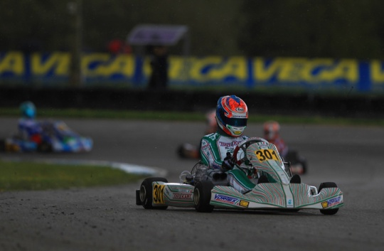 Ardigò and Corberi lead the first round of the European Champioship for KZ and KZ2 at Essay