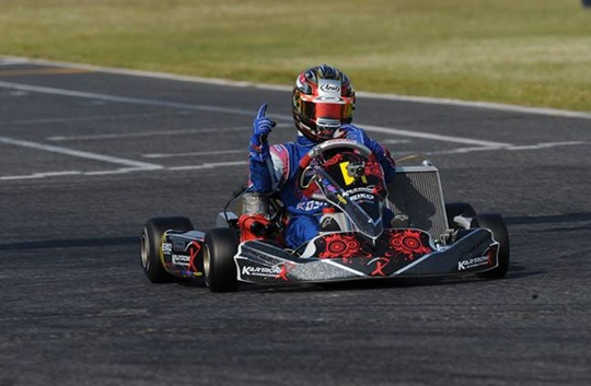 Singapore's Fong Wei Jie takes the Asia-Pacific Karting title in KF