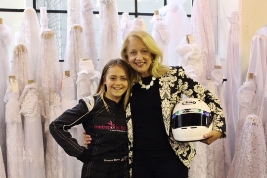 Winning female karter flies to Italy to compete