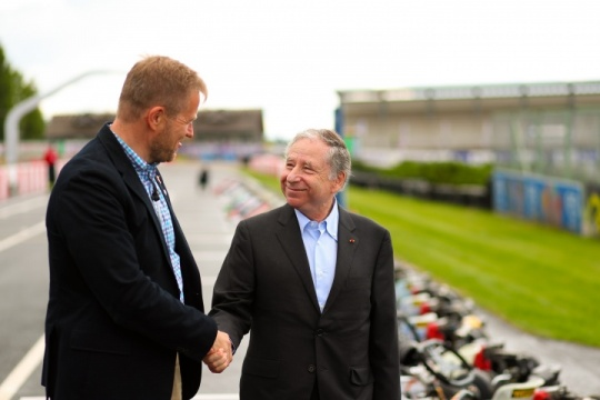 Jean Todt attends the CIK-FIA European Championship in Alaharma