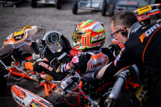 The Team ready for the double WSK trip to Sarno