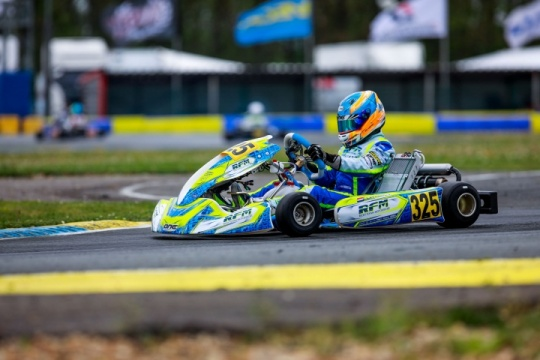 Van Hoepen makes great gains in the WSK Euro Series round in France