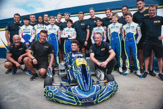 Lando Norris on track at Adria with his new kart