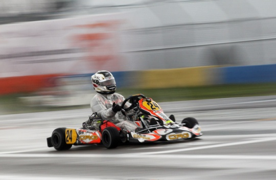 Rain shuffled cards in Castelletto's finals  of WSK