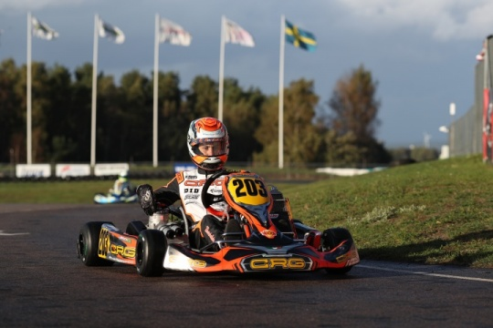 CRG and Bortoleto on the podium  at the OKJ World Championship