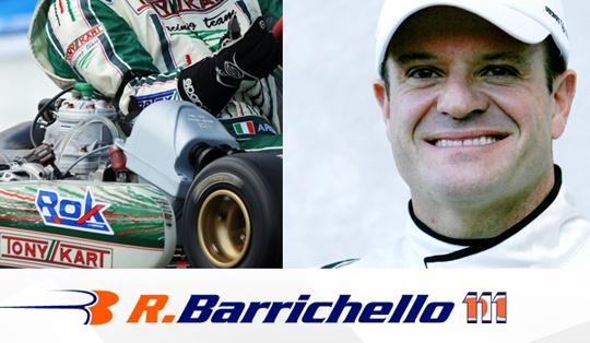 Barrichello on the Rok Shifter