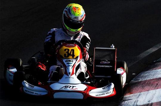 ART Grand Prix super podium with Hanley at World Championship opener