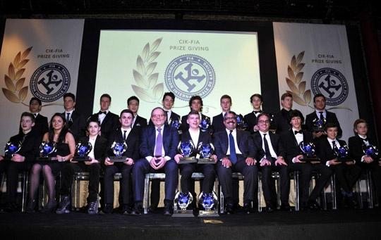 All CIK-FIA Champions in Milan