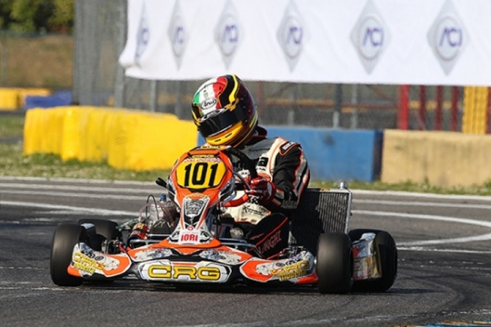 Longhi and CRG kicking off the Italian Championship with a podium in KZ2