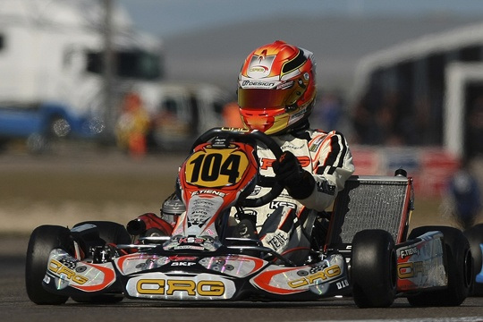 Shiny Tiene in the CIK-FIA European Championship in Spain, Lennox in the Euro Rotax in Italy